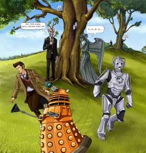 Doctor Who: hide and side, by DameEleusys on DeviantArt