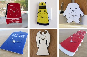 Doctor Who clock: Daleks, Tardis, Weeping Angels, little fat