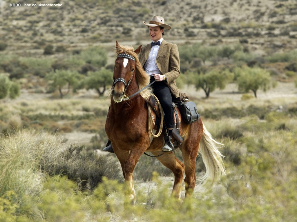 Doctor Who A town called Mercy: the Doctor riding a horse