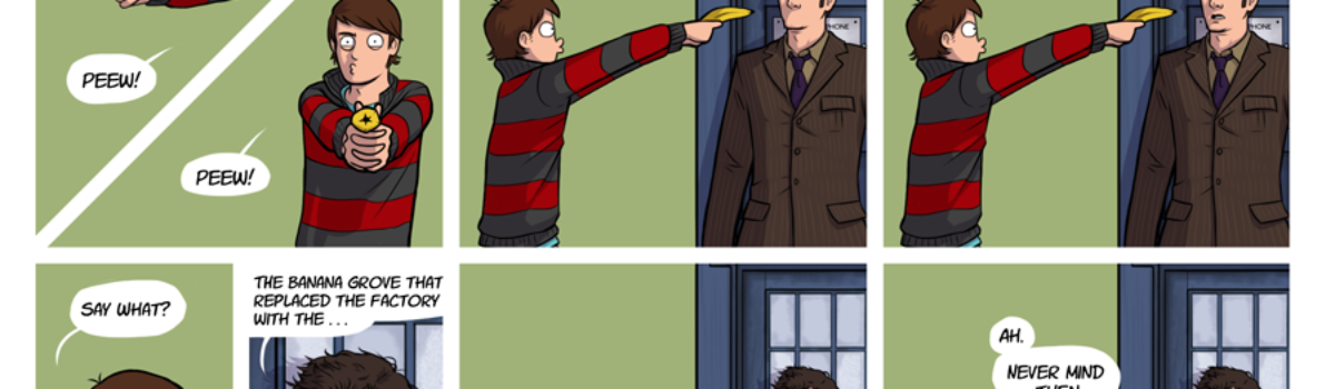 Doctor Who fan art: 'Search for the truth' comic