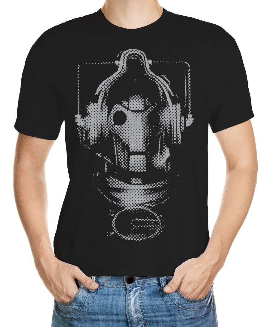 Doctor Who Cyberman face t-shirt