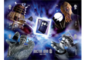 stamp tardis minisheet