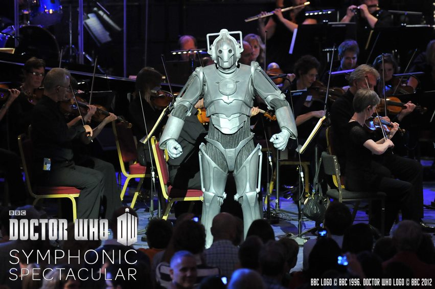 Cyberman and orchestra: The Doctor Who Symphonic Spectacular 2012
