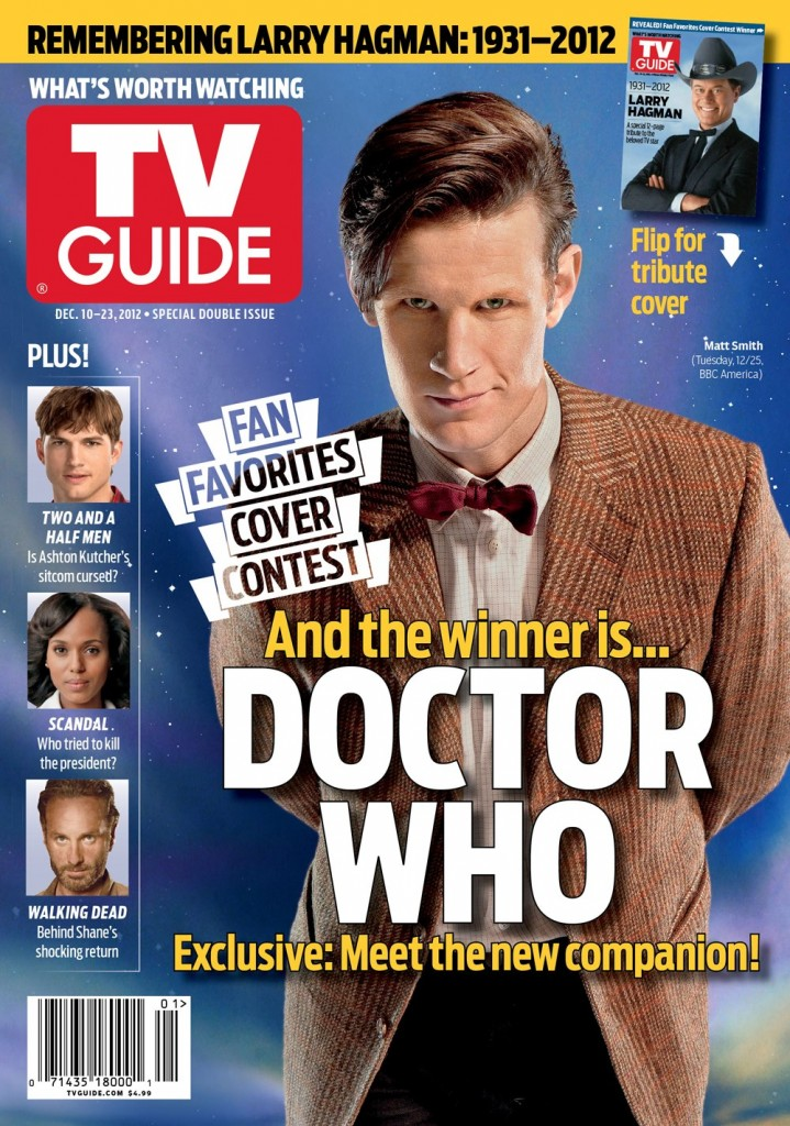 Matt Smith and Doctor Who makes TV Guide Christmas cover