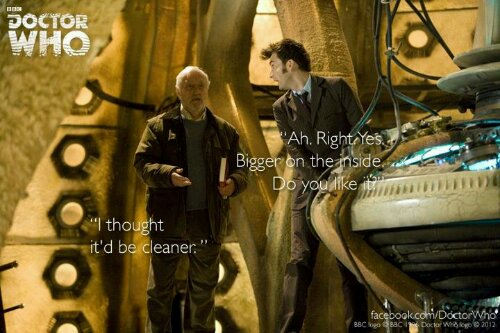Wilfred Mott reaction into the Tardis