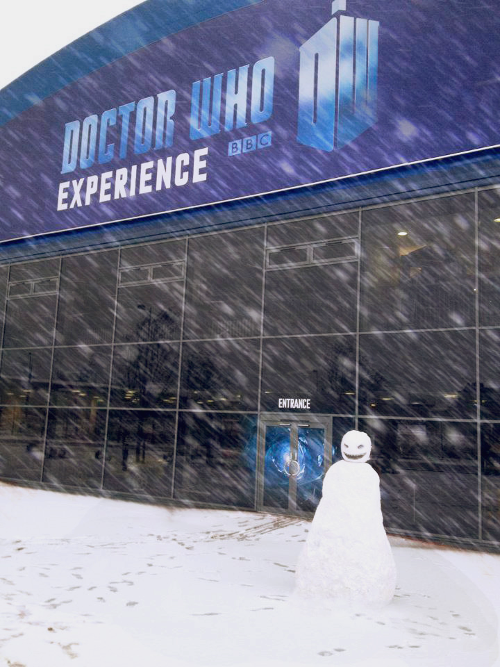 Snowman spotted Doctor Who Experience in Cardiff