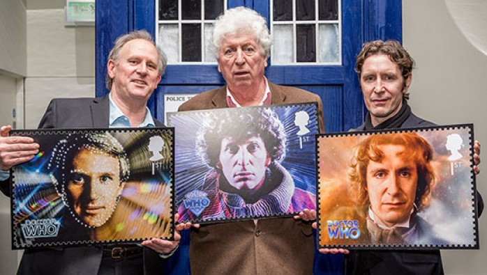 Doctor Who tardis and stamps