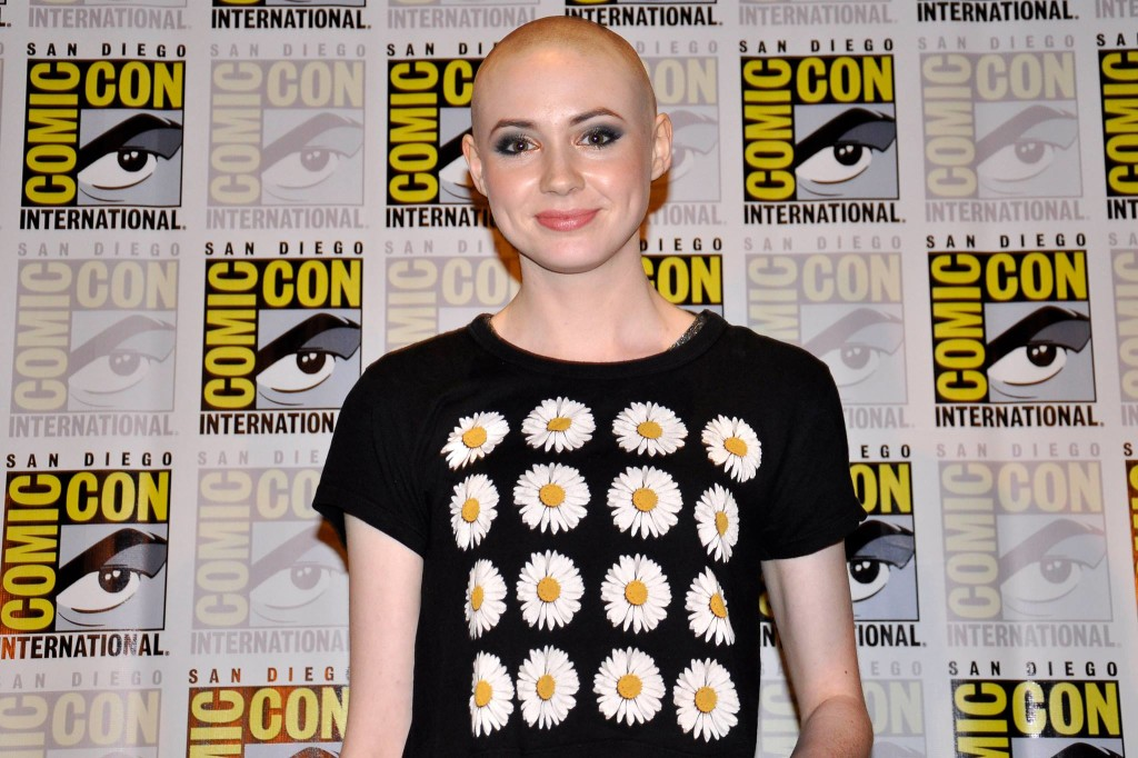 Doctor Who Karen Gillan shaved head
