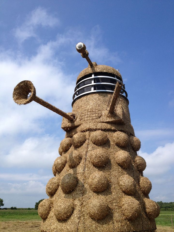 Mike Harper Giant Dalek sculpture invades Cheshire field Great Britain