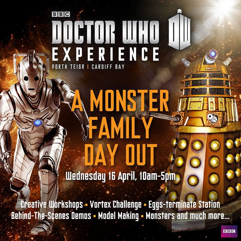 Monster Family Day Out at the Doctor Who Experience in Cardiff