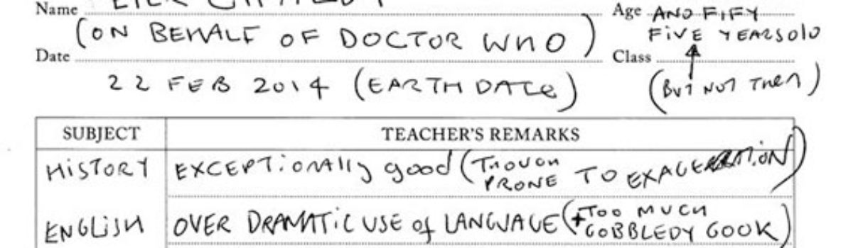 The Doctor's Report Card (by Peter Capaldi)